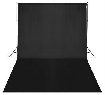 support de fond de studio photo complet 3mx5m noir boutique. Black Bedroom Furniture Sets. Home Design Ideas